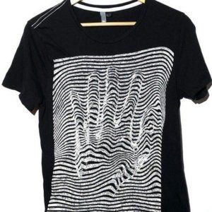 Abstract Hand Black & White Knit Shirt